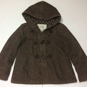 💯OLD NAVY Girl's Brown Flared Warm Jacket